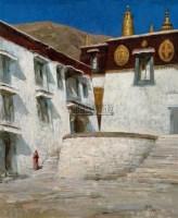 藏区风景 油彩 画布 - 153260 - 油画专场  - 2010秋季艺术品拍卖会 -收藏网