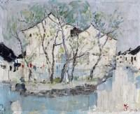 风景 纸本油画 - 吴冠中 - 中国油画  - 2010年秋季艺术品拍卖会 -收藏网