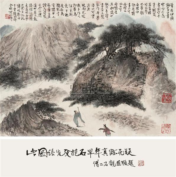 携琴访友图 镜片 设色纸本 - 116002 - 中国书画(一) - 2010年秋季艺术品拍卖会 -收藏网