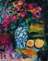 沙 耆   青花瓶里的玫瑰 -  - 名家西画 当代艺术专场 - 2008年秋季艺术品拍卖会 -收藏网