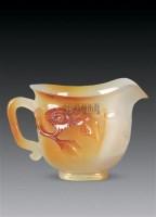 玛瑙雕花卉纹杯 -  - 古董珍玩 - 2010秋季艺术品拍卖会 -收藏网