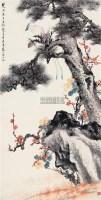 松寿长年 镜片 设色纸本 - 江寒汀 - 中国近现代书画(一) - 2010秋季艺术品拍卖会 -收藏网