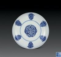 清乾隆 青花寿字纹盘 -  - 瓷器杂项 - 2006年夏季拍卖会 -收藏网