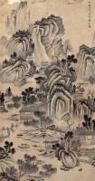 山水 立轴 设色纸本 - 盛茂烨 - 中国书画 - 第9期中国艺术品拍卖会 -收藏网