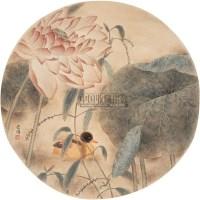 江宏伟 荷塘游鸭图 片 设色纸本 - 江宏伟 - 中国油画·当代名家书画 - 2006艺术品拍卖会 -收藏网