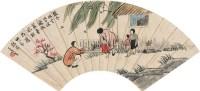 人物 扇片 纸本 - 丰子恺 - 中国书画(上) - 2010瑞秋艺术品拍卖会 -收藏网