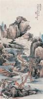 """松荫谭道 立轴 设色纸本 -  - 中国书画 - 2010秋季""""天津文物""""专场 -收藏网"""