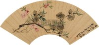桃花 扇面 设色纸本 - 张熊 - 中国书画一 - 2010秋季艺术品拍卖会 -收藏网