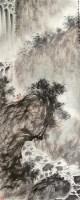 """观瀑图 立轴 设色纸本 - 傅抱石 - 中国书画 - 2010""""清花岁月""""冬季大型艺术品拍卖会 -收藏网"""