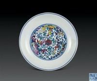 清道光 斗彩双凤戏莲纹盘 -  - 瓷器杂项 - 2006年夏季拍卖会 -中国收藏网