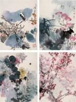 四季风景 镜心 设色纸本 - 李山 - 中国书画 - 第54期书画精品拍卖会 -收藏网