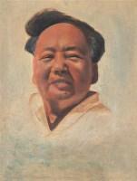 俞云阶 毛主席像 布面油画 - 俞云阶 - (西画)前辈经典专题 - 2006年秋季精品拍卖会 -收藏网