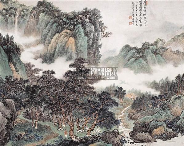 朱梅邨(1911~1993)    松林聽泉圖 - 139858 - 中国书画海上画派 - 2006春季大型艺术品拍卖会 -收藏网