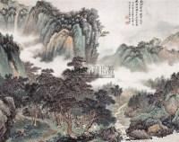 朱梅邨(1911~1993)    松林聽泉圖 -  - 中国书画海上画派 - 2006春季大型艺术品拍卖会 -收藏网