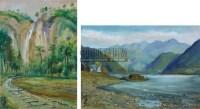 风景二帧 纸本油画 - 涂克 - 中国油画  - 2010年秋季艺术品拍卖会 -收藏网