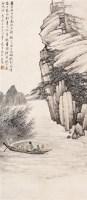 赤壁游 立轴 设色纸本 - 汪琨 - 近现代书画 - 2006夏季书画艺术品拍卖会 -收藏网