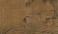 郎世宁 双骏图 立轴 - 郎世宁 - 中国书画、油画 - 2006艺术精品拍卖会 -中国收藏网