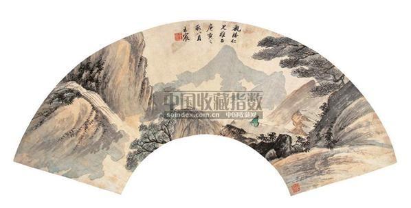 山水 扇面 设色纸本 - 5289 - 中国书画 - 第9期中国艺术品拍卖会 -收藏网
