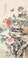 花卉 立轴 纸本设色 - 陆抑非 - 中国当代书画 - 2010秋季艺术品拍卖会 -中国收藏网