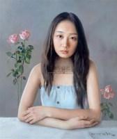 漂浮的玫瑰 布面油画 - 140645 - 中国油画  - 2010年秋季艺术品拍卖会 -收藏网
