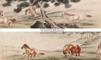 六骏图 手卷 纸本 - 马晋 - 文物公司旧藏暨海外回流 - 2010秋季艺术品拍卖会 -收藏网