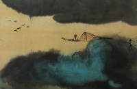 山水 - 张大千 - 2010上海宏大秋季中国书画拍卖会 - 2010上海宏大秋季中国书画拍卖会 -收藏网