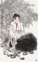 红领巾 镜片 设色纸本 - 王有政 - 中国书画(二) - 2010年秋季艺术品拍卖会 -收藏网