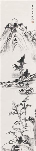 """疏林空亭 立轴 水墨纸本 - 7123 - 中国书画 - 2010秋季""""天津文物""""专场 -收藏网"""