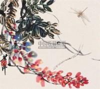 草虫 立轴 纸本 - 116087 - 中国书画(下) - 2010瑞秋艺术品拍卖会 -收藏网