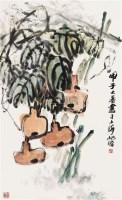 葫芦图 镜心 设色纸本 - 朱屺瞻 - 中国书画(一) - 2010年秋季艺术品拍卖会 -中国收藏网