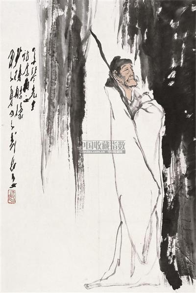 少陵造像 镜心 设色纸本 - 118173 - 中国书画 - 2010秋季艺术品拍卖会 -收藏网