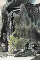 观瀑亭 立轴 设色纸本 - 118357 - 中国书画(一) - 2010年秋季艺术品拍卖会 -收藏网