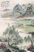 春江晴暖 立轴 设色纸本 - 徐北汀 - 中国书画 - 第9期中国艺术品拍卖会 -收藏网