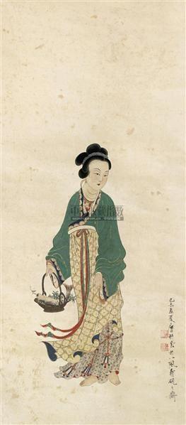 仕女 立轴 纸本 - 4403 - 文物公司旧藏暨海外回流 - 2010秋季艺术品拍卖会 -收藏网