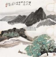 牧牛图 立轴 设色纸本 - 何海霞 - 中国书画 - 2010秋季艺术品拍卖会 -收藏网
