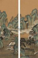 山水 四屏 绢本 - 钱维城 - 中国书画(下) - 2010瑞秋艺术品拍卖会 -收藏网