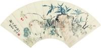 花鸟 (一件) 扇片 纸本 - 汪溶 - 字画上午专场  - 2010年秋季大型艺术品拍卖会 -收藏网