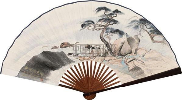 松风海水 成扇 设色纸本 - 4051 - 中国书画(一) - 2010年秋季艺术品拍卖会 -收藏网