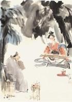 傅小石 古琴图 - 115956 - 中国书画  - 上海青莲阁第一百四十五届书画专场拍卖会 -收藏网
