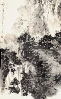 傅抱石 山水 - 傅抱石 - 中国书画  - 上海青莲阁第一百四十五届书画专场拍卖会 -收藏网