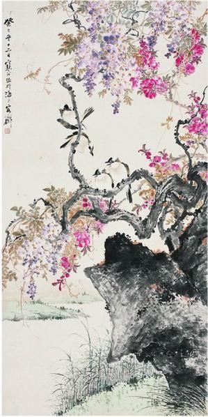 江寒汀(1903〜1963)白頭雙喜圖 - 13356 - ·中国书画近现代名家作品专场 - 2008年春季拍卖会 -收藏网