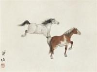 双马 镜片 设色纸本 - 3998 - 中国书画 - 2010年秋季拍卖会 -收藏网