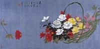 花卉 镜框 设色纸本 - 罗国士 - 中国书画 - 2010秋季艺术品拍卖会 -收藏网