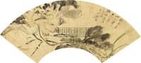 花卉 扇面 纸本 - 张熊 - 扇面小品 - 2010秋季艺术品拍卖会 -收藏网
