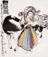长乐图 - 程十发 - 西泠印社部分社员作品 - 2006春季大型艺术品拍卖会 -收藏网