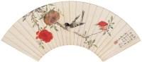 花鸟 扇面 设色纸本 - 钱维城 - 名家书画·油画专场 - 2006夏季书画艺术品拍卖会 -收藏网