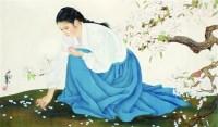 何家英 仕女 - 何家英 - 中国书画  - 上海青莲阁第一百四十五届书画专场拍卖会 -收藏网