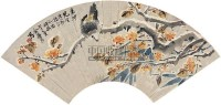 花鸟 扇片 纸本 - 金梦石 - 中国书画(上) - 2010瑞秋艺术品拍卖会 -收藏网