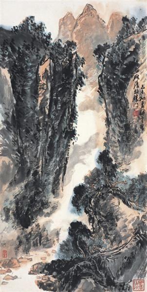 姚耕云      峡谷风湍 - 141334 - 中国书画  - 2010浦江中国书画节浙江中财书画拍卖会 -收藏网