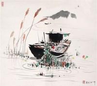 吴冠中 水乡 硬片 - 吴冠中 - 中国书画、油画 - 2006艺术精品拍卖会 -收藏网